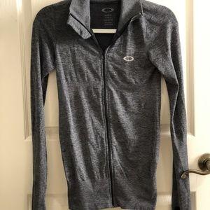 Grey Oakley Womens Light Weight Running Jacket